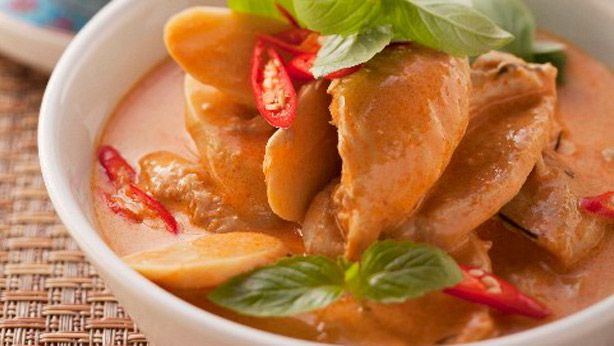 Thai chicken curry with jasmine rice