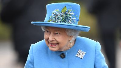 Queen Elizabeth wears blue at church on Sunday