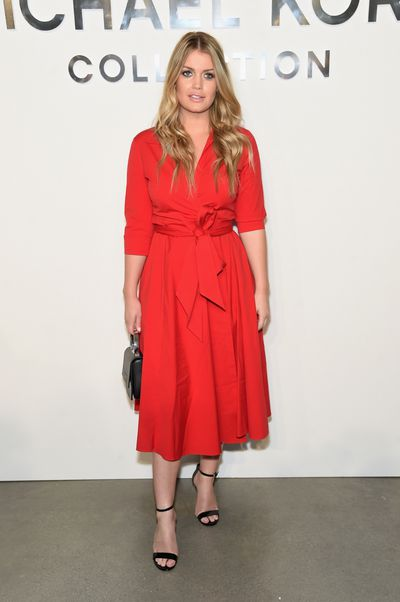 Kitty Spencer wearing Michael Kors at the Michael Kors Collection Spring 2018 Runway Show in New York,  September, 2017