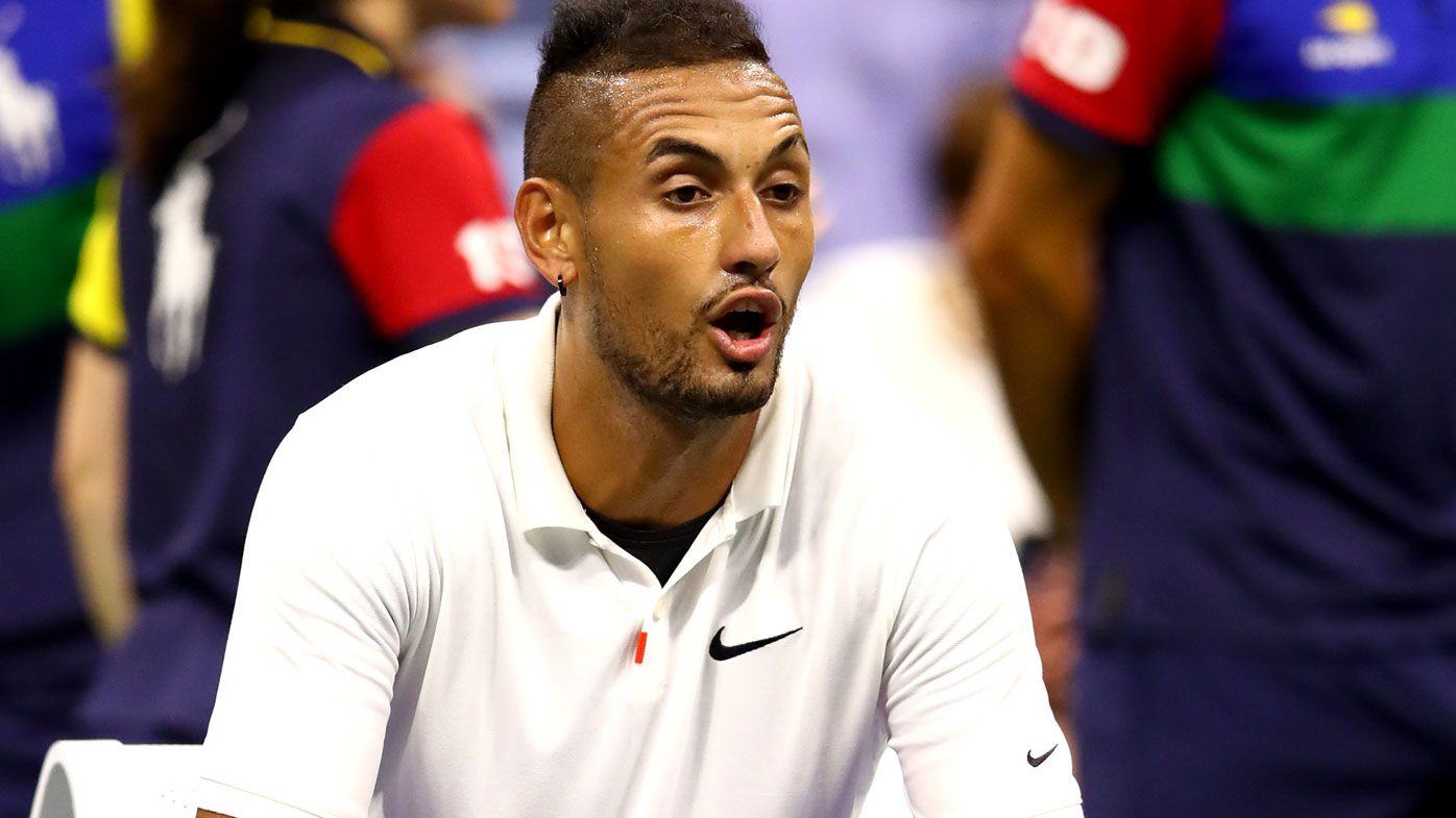 Nick Kyrgios was defeated in the US Open and pulled out of the doubles.