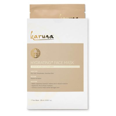 "<p><a href=""https://www.mecca.com.au/karuna/hydrating-face-mask/I-022474.html"" target=""_blank"" draggable=""false"">Karuna Hydrating Face Mask, $11</a></p> <p>""After her crazy travel days, I wanted to extra pamper her, so I prepped her skin with @karunaskin Hydrating Mask while we ate breakfast and chatted,"" </p>"