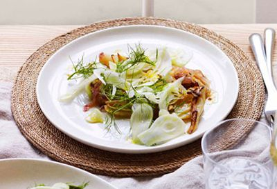 Warm fennel salad