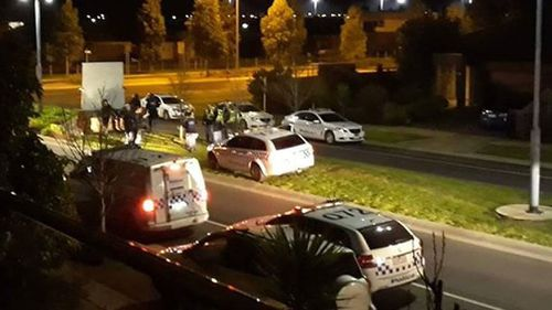 There were reports around 100 people were involved. Picture: 9NEWS