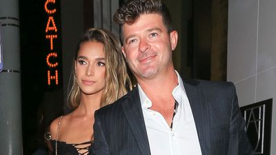 Robin Thicke and girlfriend April Love Geary are expecting their first child together