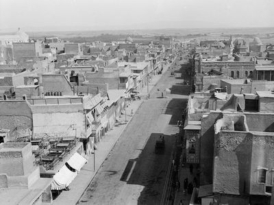 This photo shows the Old City in peace times during the early 1930s. (American Colony Photo Department)
