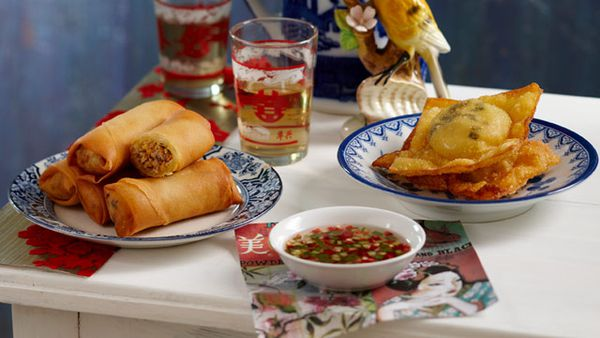 Fried scallop wontons