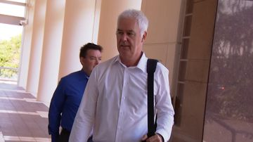 Mr McRoberts is five weeks into his trial for allegedly attempting to pervert the course of justice. Picture: 9NEWS