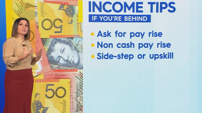 Zahos shared her tips on how to boost income.