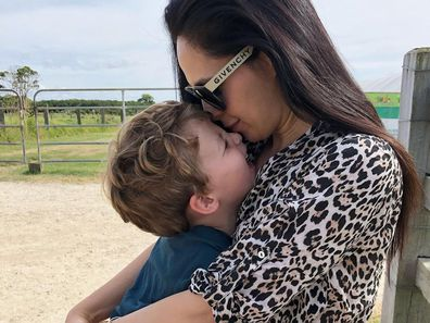Zoe Marshall with her son Fox