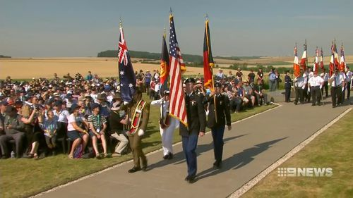 Many descendants of those who fought in the battle travelled to France to attend the commemorations. Picture: 9NEWS