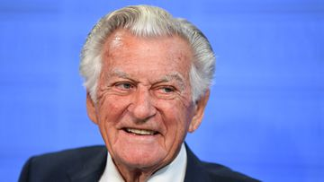 Bob Hawke at the National Press Club today. (AAP)