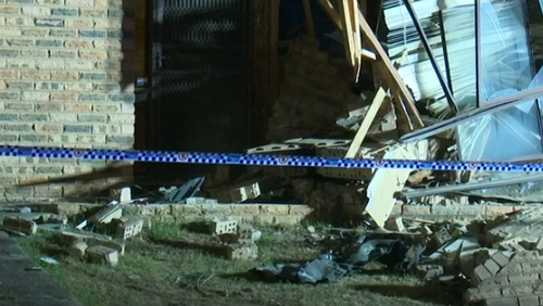 A pregnant driver has given birth after crashing her car into a house at Edensor Park overnight.