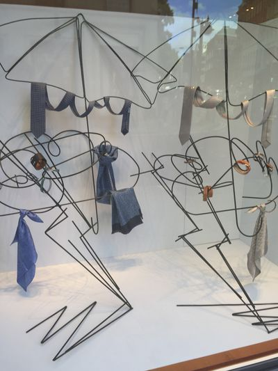 Window inspiration at Hermes in London.