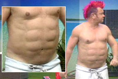 """Celebrity paparazzo Darryn Lyons freaked out UK <i>Celebrity Big Brother</i> viewers with his Ninja Turtle-like torso. Darryn told his housemates that he'd undergone a procedure called 'contouring'. """"It takes away all the fat around [your stomach] and actually lets your natural abs be there,"""" he explained. """"Basically it's the male version of a boob job."""""""