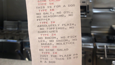 Dog 'orders' very specific meal from NYC chef