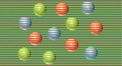 Are these spheres actually different colours?