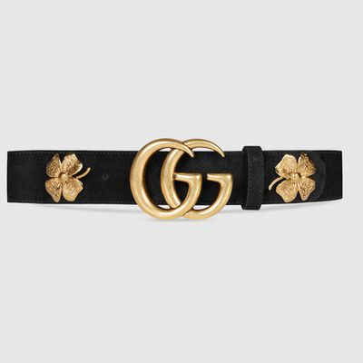 "<strong><a href=""https://www.gucci.com/au/en_au/pr/women/womens-accessories/womens-belts/womens-wide/clover-belt-with-double-g-buckle-p-409402CEMWT1000?position=20&listName=ProductGridComponent&categoryPath=Women/Womens-Accessories/Womens-Belts"" target=""_blank"">Gucci</a></strong> clover belt with double G buckle, $685<br>"