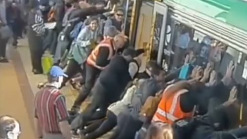 Video capturing the incident went viral online and made news headlines around the world. Picture: 9NEWS