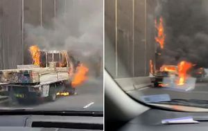 Truck bursts into flames on Sydney's Eastern Distributor