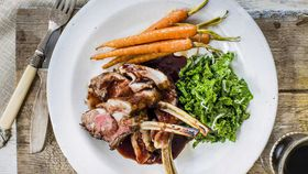 Rack of lamb with pinot noir sauce