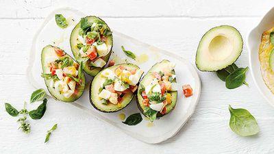 "Recipe:<a href=""http://kitchen.nine.com.au/2017/05/19/15/50/dr-libby-weavers-avocado-and-egg-bowls"" target=""_top""> Dr Libby Weaver's avocado and egg bowls</a>"