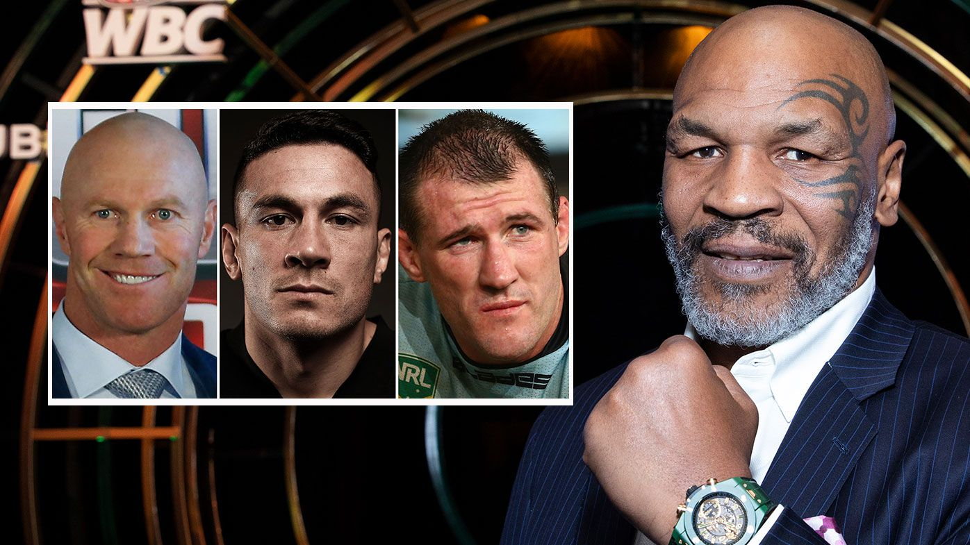 Barry Hall, Sonny Bill Williams, Paul Gallen, Mike Tyson