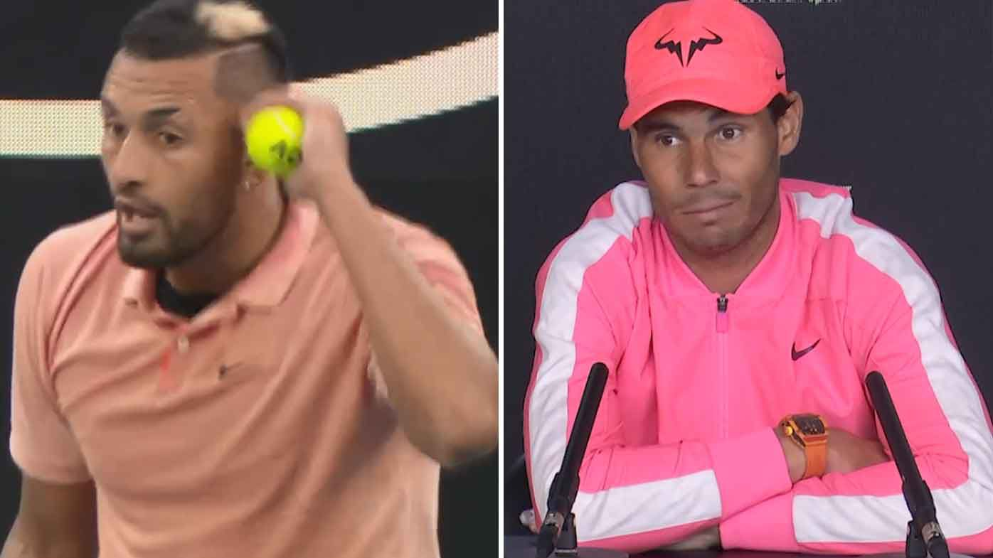 'I really don't care': Rafael Nadal reacts to Nick Kyrgios' cheeky impersonation