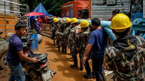 The rescue operation continues  days after the boys went missing. Picture: Getty