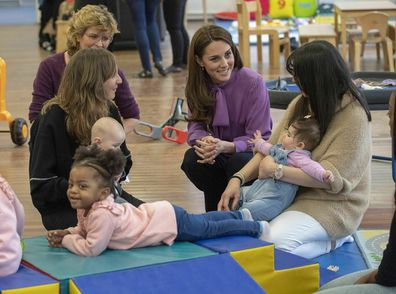 Kate spent time speaking with local mums.
