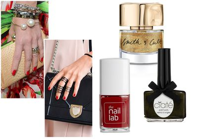 #4 Drench your tips in emerald greens, glistening golds and punchy reds