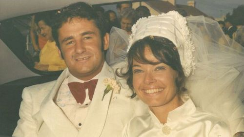 Paul and Lynette White on their wedding day. Picture: AAP