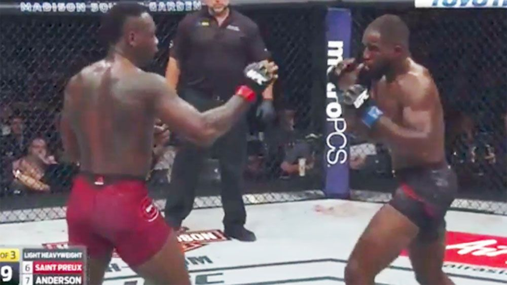 UFC 217: Ovince Saint Preux KO's Corey Anderson with brutal kick to the head
