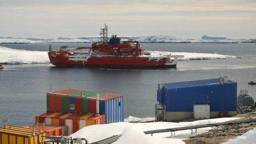 Australia's Antarctic icebreaker Aurora Australis hits rocks in blizzard