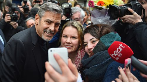 The actor was happy to pose for selfies and photos with the Edinburgh crowd.  (Getty)