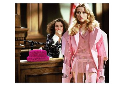 A Comme des Garçons jacket and Chanel hat for <em>Legally Blonde</em>'s Elle Woods.