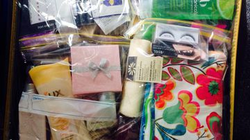 Thousands of beauty bags have been distributed across Sydney.