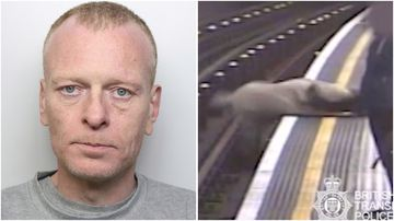 Paul Crossley, 47, pushed a 91-year-old man onto the train tracks at Marble Arch station and attempted to push another man onto the tracks at Tottenham Court Road station.