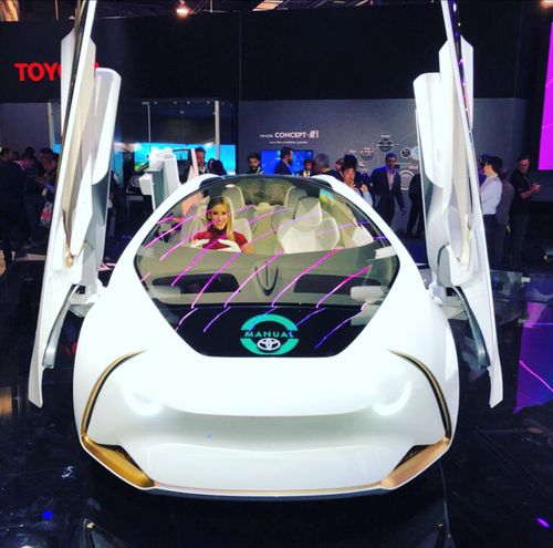 The Toyota future car concept that talks to you. (9NEWS)