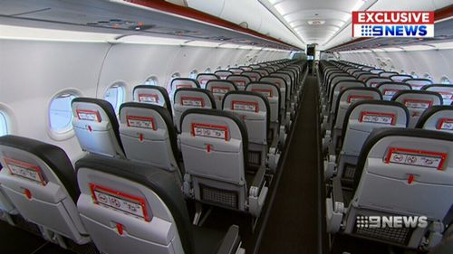 Jetstar has added an extra row of seats to its planes. (9NEWS)