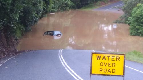 Residents reported flooding in Kuranda, north of Cairns. (Supplied)