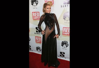 This look is actually pretty modest for party gal Paris. <br/><br/>Here she is at Diddy's pre-Grammy party in January.