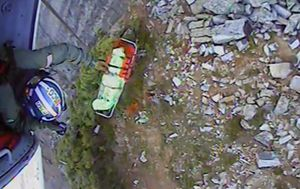 US hiker rescued after being trapped under boulder