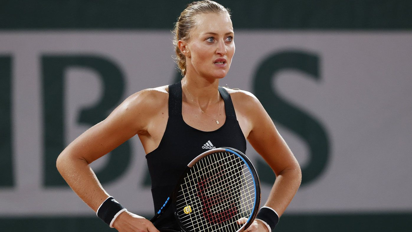 Kristina Mladenovic melts down in French Open loss after 'awful' double bounce furore
