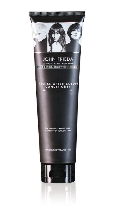 """<a href=""""https://www.johnfrieda.com.au/homecolour/precision-foam-colour/Intense-After-Colour-Conditioner.aspx"""" target=""""_blank"""">Intense After-Colour Conditioner, $16.99, John Frieda</a>"""