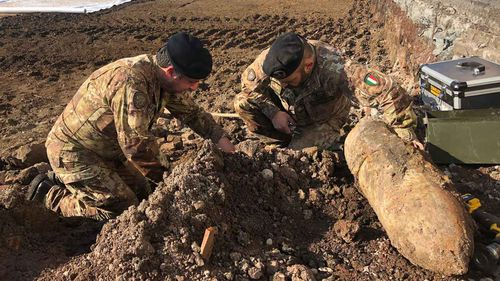 Unexploded bombs from World War II remain a serious problem in Europe.