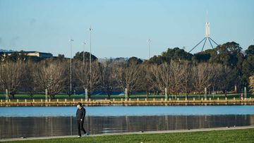 Lake Burley Griffin in Canberra.