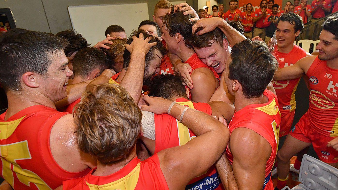 Gold Coast Suns celebrate