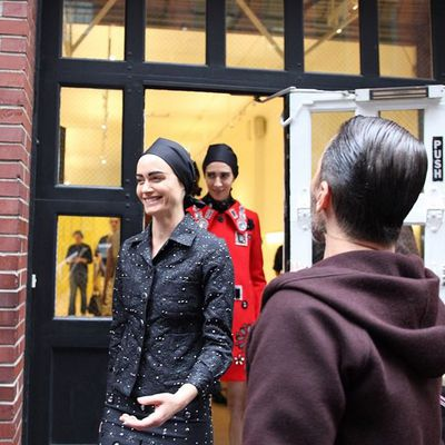 <p>The runway continued onto the streets of Soho in New York.</p>