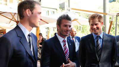 Prince William, Prince Harry and David Beckham