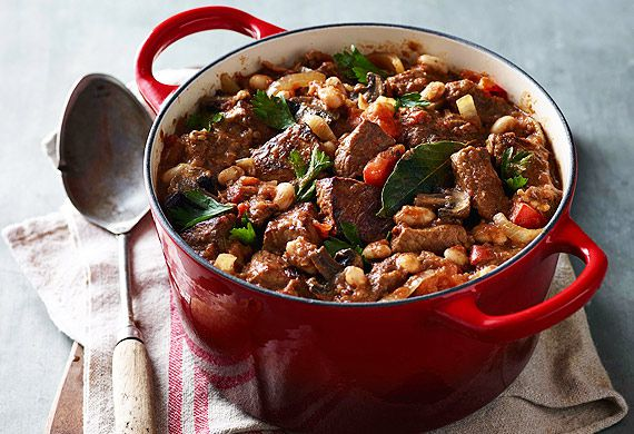 Italian beef casserole with cannellini beans
